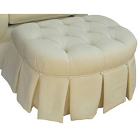 Angel Song 221920182 Bordeaux Cream Adult Park Avenue Ottoman