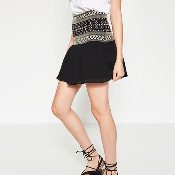 EMBROIDERED MINI SKIRT - Collection-WOMAN-NEW IN | ZARA United Kingdom