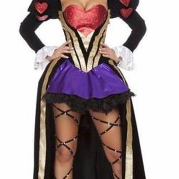 Deluxe Sexy Cora Queen of Hearts Halloween Costume