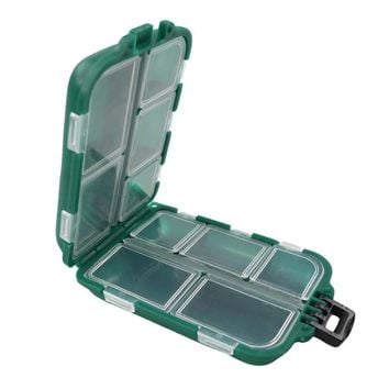 Waterproof Fishing Tackle Boxes Fishing Lure Bait Hook Storage Case Tackle Box with 10 Compartments Fishing Accessories