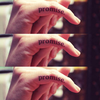 """Temporary Tattoo- """"pinky promise"""" three pack"""