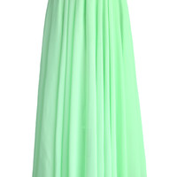 Light Green Long Maxi Skirt Green