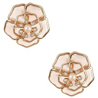 kate spade new york Sunset Blossoms Faux-Pearl Floral Stud Earrings | Dillards