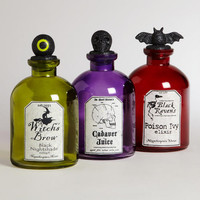 Halloween Potion Bottles, Set of 3
