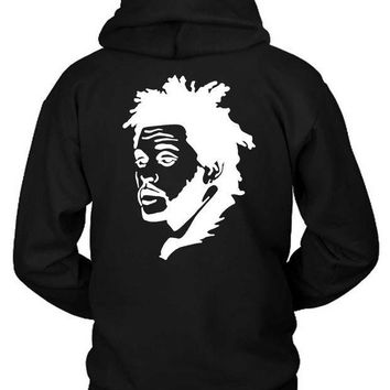 ESBH9S The Weeknd Stencil Black And White Hoodie Two Sided