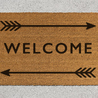Welcome Doormat, Welcome Door Mat, Welcome Mat, Doormat, Door Mat, Arrow Doormat, Arrow Door Mat, Arrows Mat, Welcome and Arrows, Arrow Mat