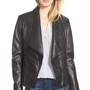 Women's Soia & Kyo 'Nerissa' Oversize Collar Leather Jacket,