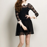 Shirt Dress with Lace 052404