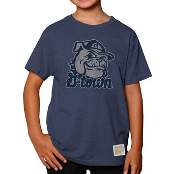 Georgetown Hoyas Original Retro Brand Youth Heathered T-Shirt - Navy Blue - http://www.shareasale.com/m-pr.cfm?merchantID=7124&userID=1042934&productID=548704542 / Georgetown Hoyas