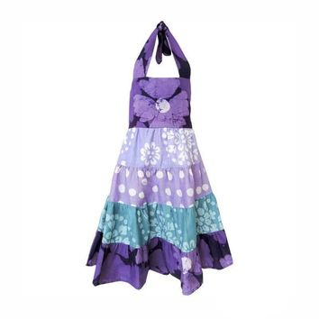 Fair Trade Toddler Gypsy Patchwork Sundress - Violet