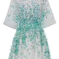 Petal Print Cotton Shirt Dress With Petal Embroidery by Blumarine - Moda Operandi