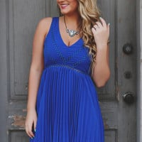 Modern Monroe Dress - Royal