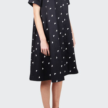 Cassey Dress - navy/white