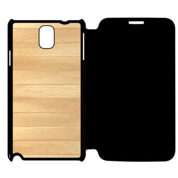 Wooden Panel Samsung Galaxy Note 4 Flip Case Cover