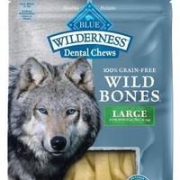 Blue Buffalo Wilderness Wild Bones Lg Dental Chews 10oz