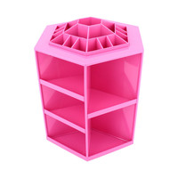 Oversea hot sale 1pcs 360 Degree Spin Cosmetic Makeup Organizer Box Storage Rack Case 3Colors