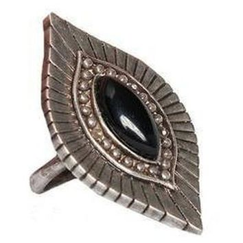 Go West n' Wild Ring in Onyx and Antique Silver