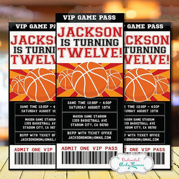 basketball invitation basketball party invitation basketball birthday party - Basketball Party Invitations
