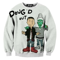 Dougd Out Cartoon Crewneck