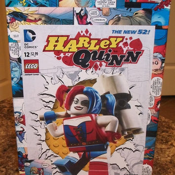 DC New 52 Harley Quinn #12 Custom Decoupage comic stoarge short box One of a kind Power Girl Lego Choice of covers