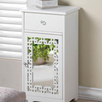 Accent Table-Mirrored Door w/Drawer