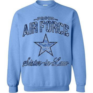 Proud Air Force Sister-in-Law Sweatshirt (Camo)