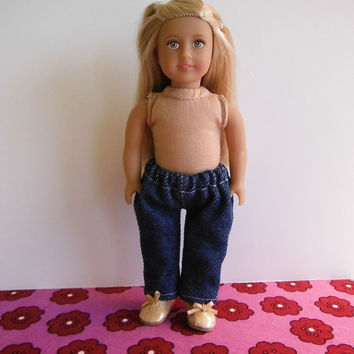 Clothes for Mini American Girl doll - jeans