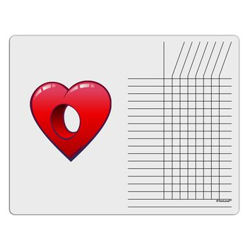 Hole Heartedly Broken Heart Chore List Grid Dry Erase Board by TooLoud
