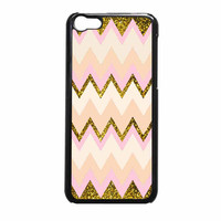 Gold Pink Chevron iPhone 5c Case