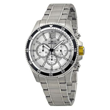 Invicta Specialty Chronograph Silver Dial Stainless Steel Mens Watch 13975