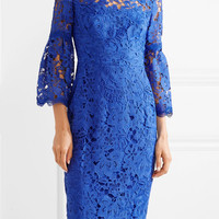 Lela Rose - Guipure lace dress