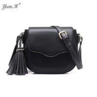 Yeetn.H New Arrival Fashion PU Leather Vintage Bag For Women Solid Shoulder Crossbody Woman Bags Messenger Bags M7042