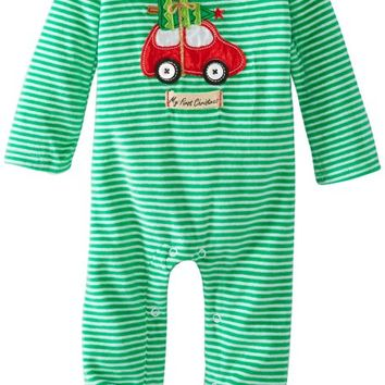 Baby-Boys Newborn Holiday Car One Piece