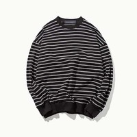 Oversize Loose Stripe Sweater