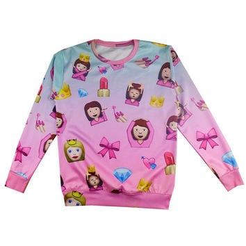 Princess Emoji Sweater