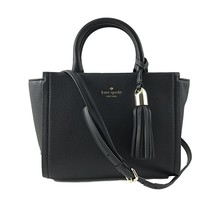 Small Rorie Wickham Place Leather Handbag in Black
