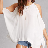 Split Batwing Draped Top