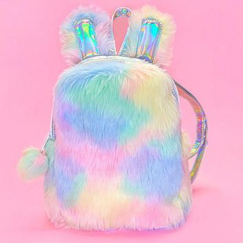 Rainbow Rabbit Mini Backpack