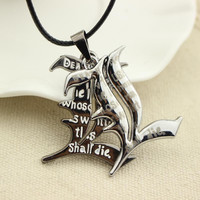 Free Shipping Death Note Double l Yagami Non-Mainstream Necklace Smart Anime Fashion Jewelry Pendant Cosplay Unisex Accessories