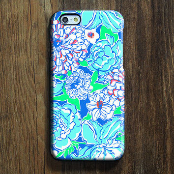 Blue White Floral  iPhone 6s Case iPhone 6s Plus Case iPhone 6 Cover iPhone 5S 5 iPhone 5C Samsung Galaxy S6 Edge Galaxy s6 s5 s4 Galaxy Note 5 Note 4 Case 138