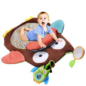 Toy Play Mat Kids Play Rug Carpet with Soft Plush Toys Newborn Baby Crawling Mat Cute Cartoon Owl Design