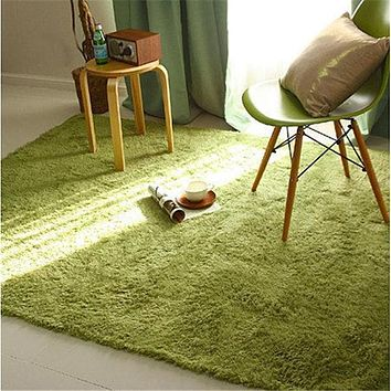 Soft Fluffy Rugs Anti-Skid Shaggy Area Rug Dining Room Home Bedroom Carpet Floor Mat 14 Colors 4 Sizes