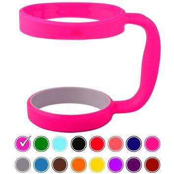 STRATA CUPS HOT PINK 30oz Tumbler Handle For YETI tumbler RTIC OZARK trail tumbler SIC and Other Ramblers Cups  No Slip Grip - BPA FREE