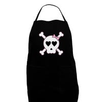 Skull and Crossbones Girl Dark Adult Apron