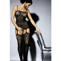 Hollow Bandage Sexy Black Erotic Romantic Women Pajamas Sleepwear _ 2230