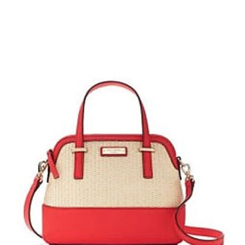 Kate Spade New York Cedar Street Straw Leather Small Maise Satchel