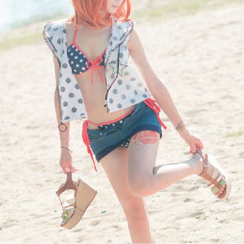 S/L [Love live] Summer live Kousaka Honoka Swimsuit Cosplay Costume CP153886