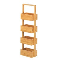Bamboo 4-Tier Bathroom Spa Tower In Natural Or Espresso