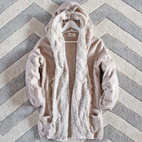 Laced Moon Hoodie in Cream