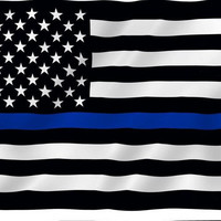 free shipping  Blue  Line usa Police Flags, 90*150cm Thin Blue Line USA Flag Black, White And Blue line Flag With Grommets